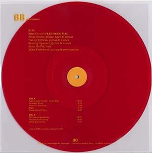Live at the BBC, London Jan 1970 (LP clear RED Vinyl – light orange lettering LTD 500 copies)