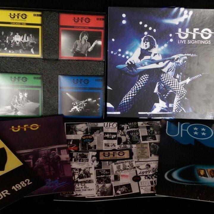 UFO – Live Sightings (Limited Edition Box Set w/ 4 CDs, Booklet, Tour Programs & Color LP)