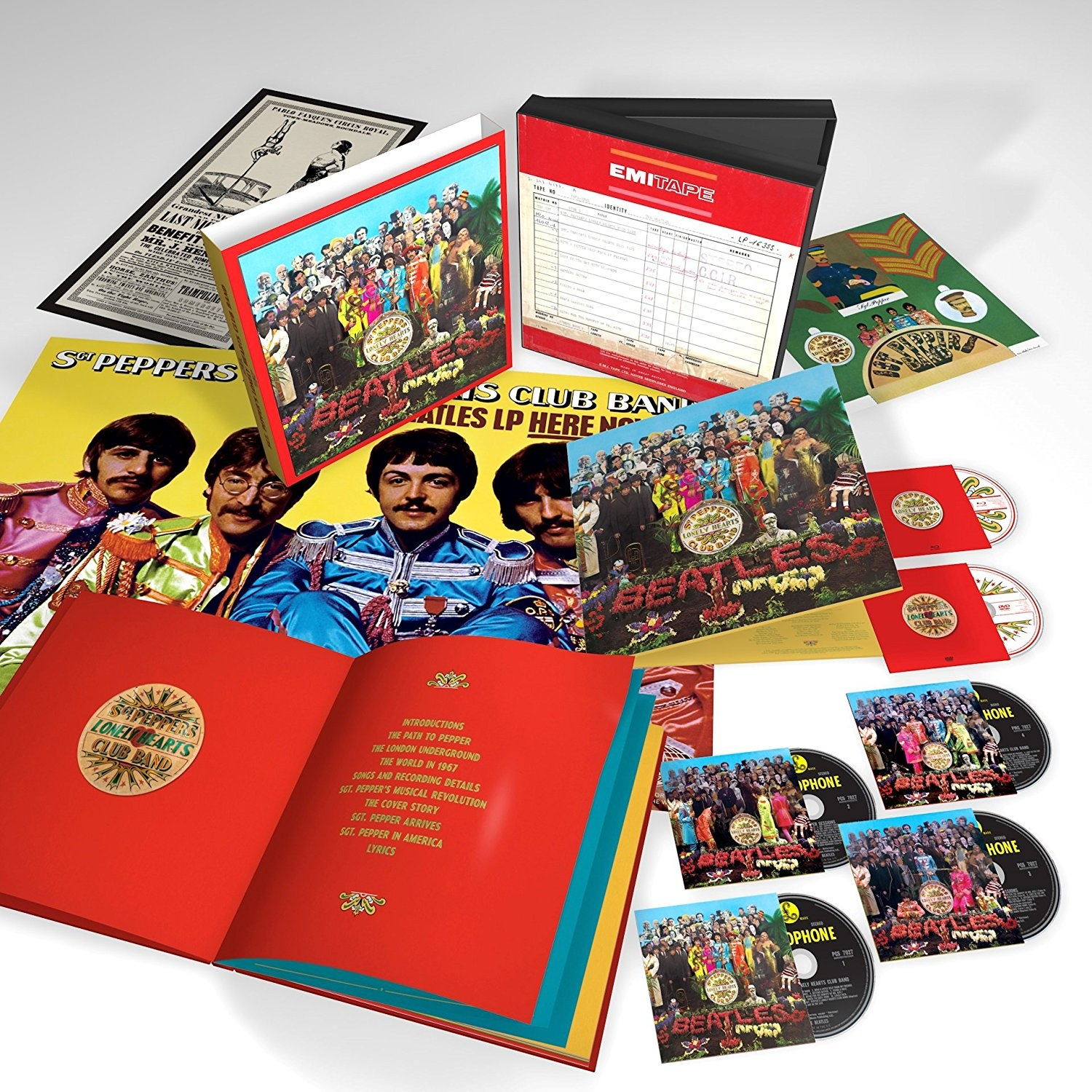 50th anniversary six-disc super deluxe edition offers stereo remix, two CDs of sessions, mono mix, 5.1 mix and more!!