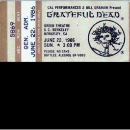Greek Theatre, Berkeley, CA, June 22nd 1986 - KPFA-FM (3CD)