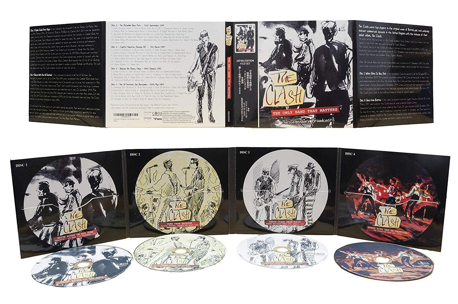 THE CLASH - THE ONLY BAND THAT MATTERS: 4 CD SET