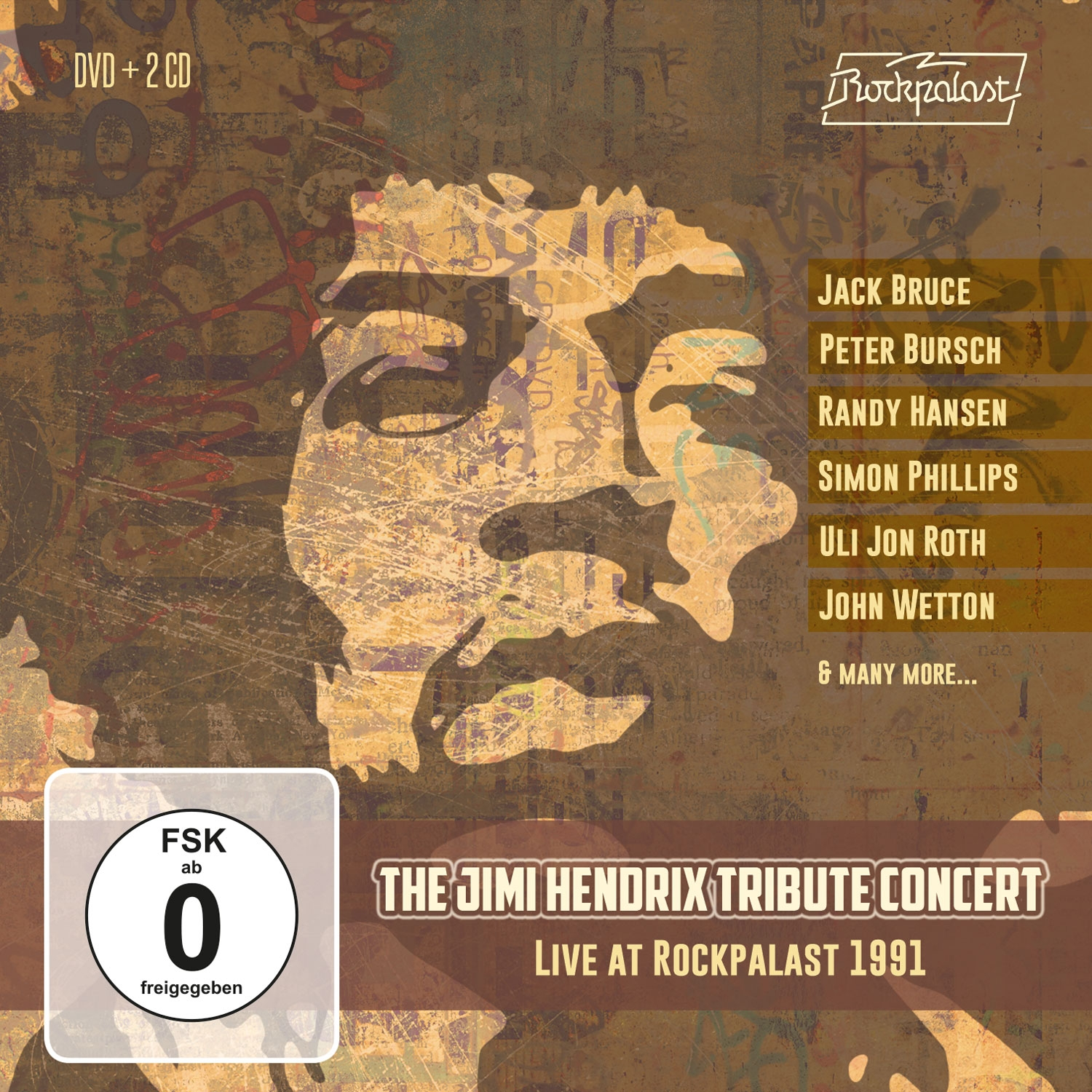 The Jimi Hendrix Concert: Live At Rockpalast 1991 (2CD+DVD))