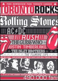 TORONTO ROCKS - Live: Rolling Stones/Ac.Dc/Guess Who/Rush...(DVD IMPORT ZONE 1) - DVD